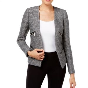 NEW • MICHAEL Michael Kors • Open Moto Blazer Grey